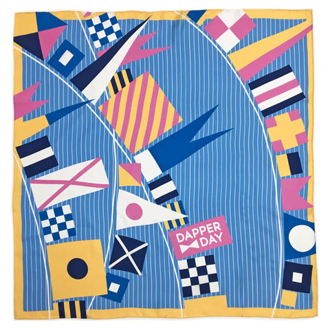 Flags,Ahoy,Silk,Scarf,nautical flags maritime silk scarf Dapper Day