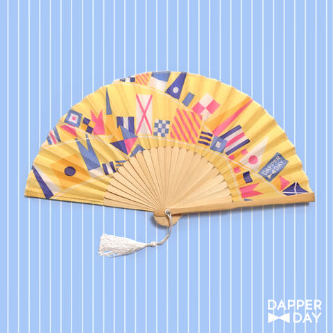 Flags,Ahoy,Fan,in,Yellow,Dapper Day Nautical Flags fan