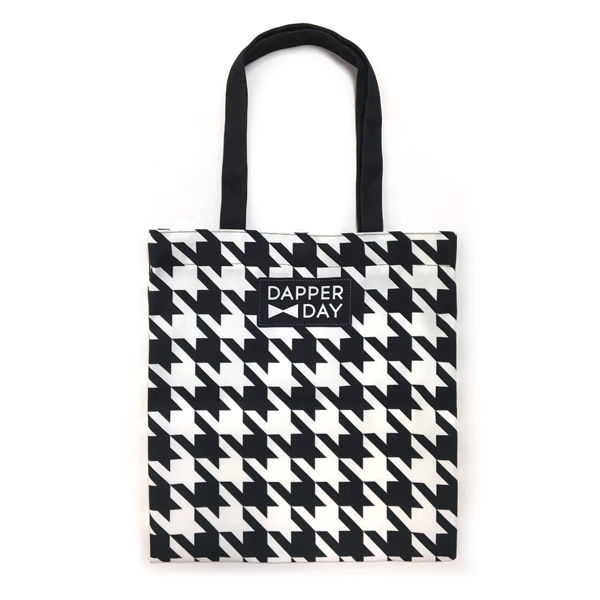 Houndstooth Print Snap Tote Bag - product images