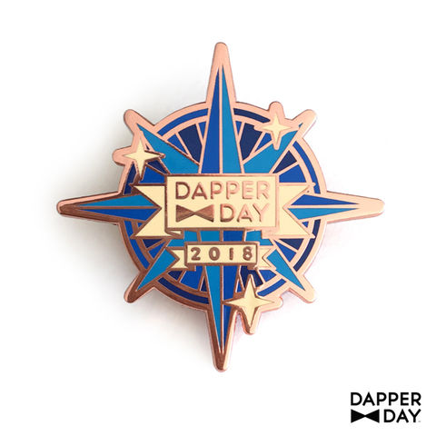 Compass,Rose,Pin,Rose Gold Compass Rose nautical Lapel Pin Dapper Day