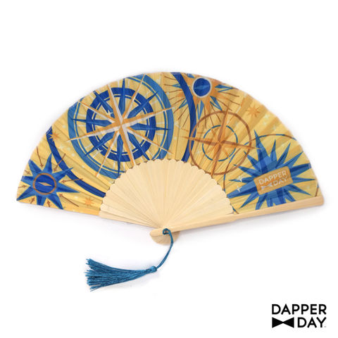 Celestial,Compass,Print,Fan,Dapper Day nautical compass print folding hand fan