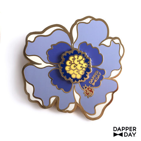 Big-Blue,Boutonnière,Pin,brooch lapel pin Dapper Day Boutonnière