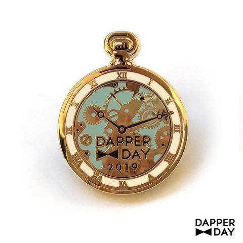 Pocket,Watch,Pin,pocket watch Lapel Pin Dapper Day