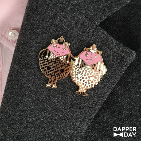 Tweedledee and Tweedledum Pin - product images  of