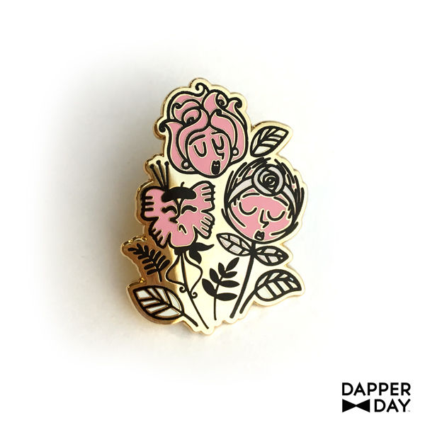 Wonderland Flowers Pin - product images