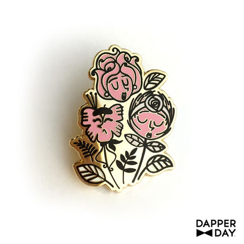 Wonderland,Flowers,Pin,Alice in Wonderland flowers Lapel Pin Dapper Day