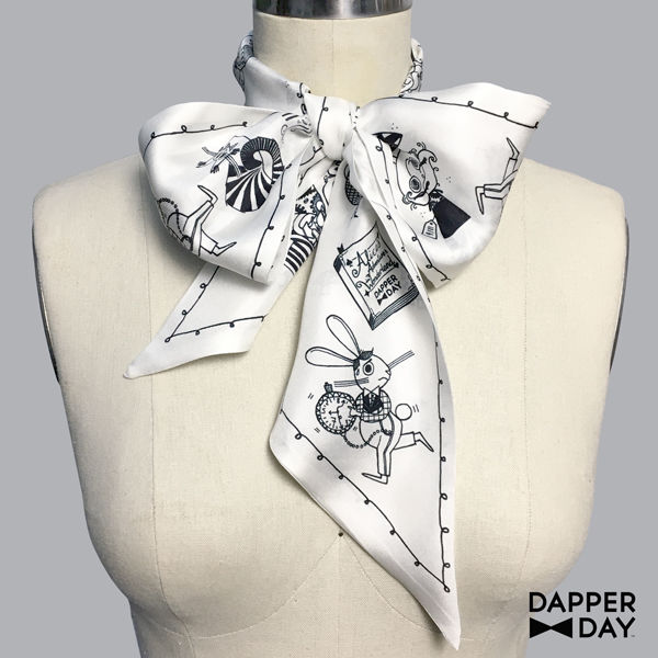 Wonderland Print Silk Scarf - product images  of