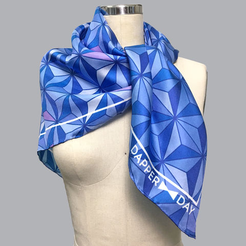 Sharkstooth,Print,Silk,Scarf,geometric triangle asanoha Dapper Day