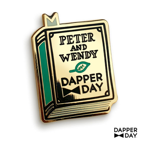 Neverland,Book,Pin,Peter Pan Lapel Pin Dapper Day