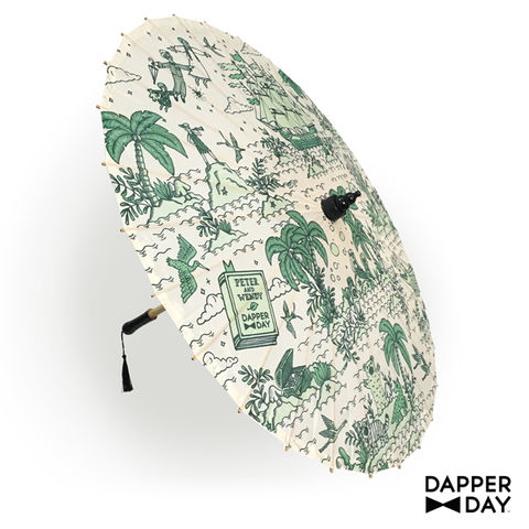 Neverland,Print,Parasol,Peter Pan Neverland parasol Dapper Day