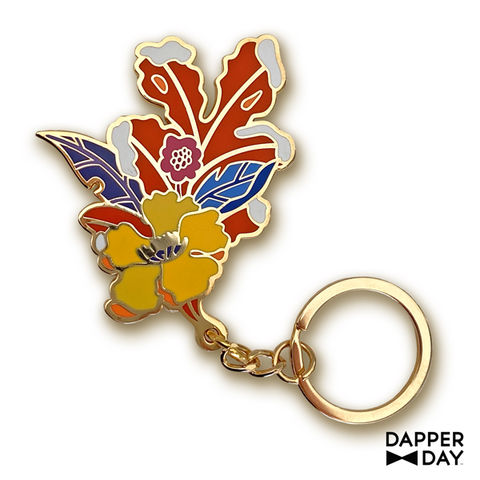 First,Frost,Key,Charm,fall leaves floral keychain Dapper Day
