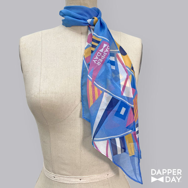 Flags Ahoy Print Silk Scarf - product images  of