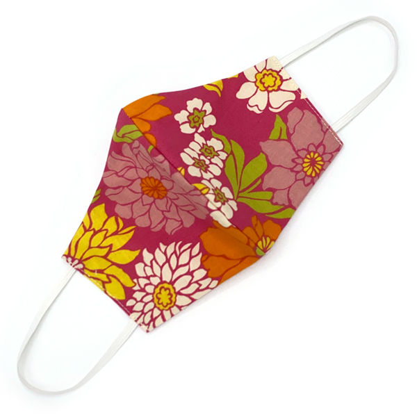 Vintage Fabric Face Mask: 60's Garden  - product images  of