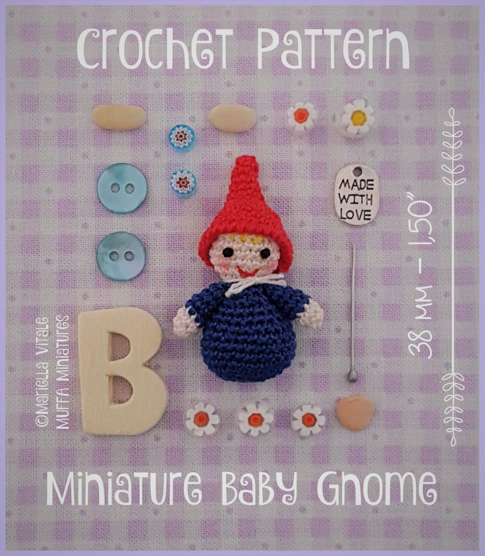 Baby Gnome - Amigurumi Crochet PDF Pattern - product images  of