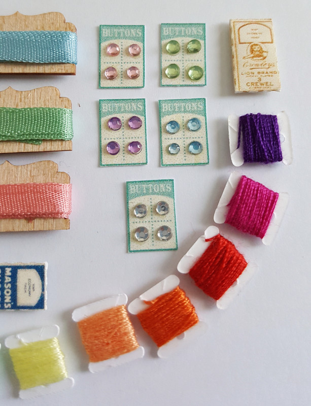 Kit to make a miniature Haberdashery Display - product images  of