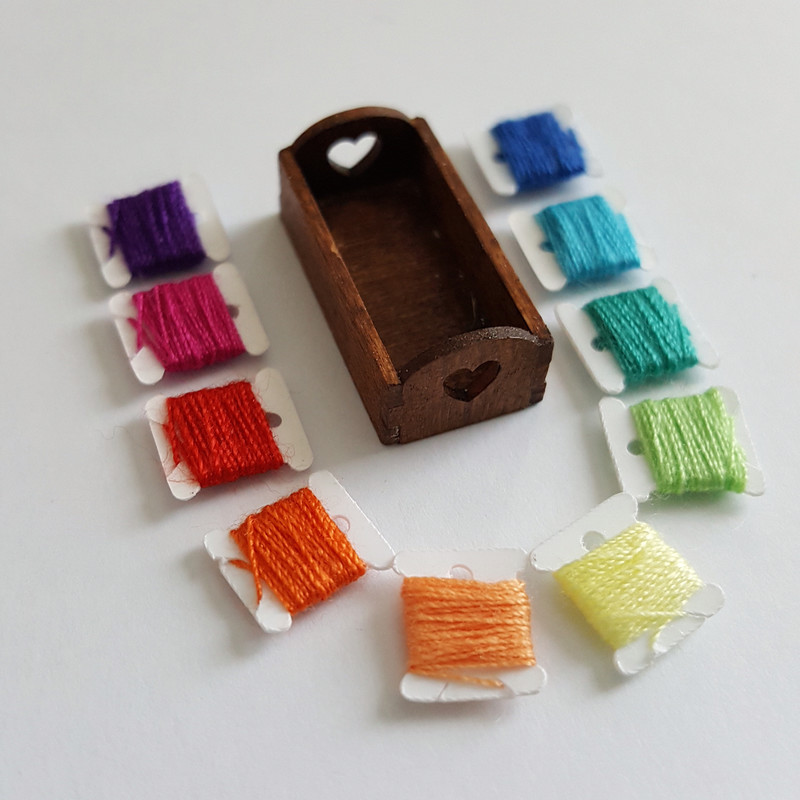 Kit to make a miniature Thread Box Display - product images  of