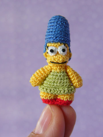 Mini,Marge,like,doll,-,Amigurumi,Crochet,PDF,Pattern,crochet_marge,crochet_yellow_doll,miniature_simpsons,mariella_vitale,muffa_miniatures,PDF_Pattern,Crochet_Tutorial,crochet_pattern,miniature_amigurumi,miniature_crochet,amigurumi,micro_crochet