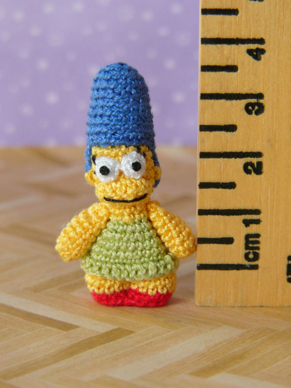 Mini Marge like doll - Amigurumi Crochet PDF Pattern - product images  of