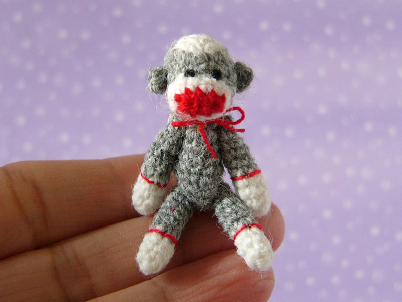 Punch Thread Sockmonkey - Amigurumi Crochet PDF Pattern - product images  of