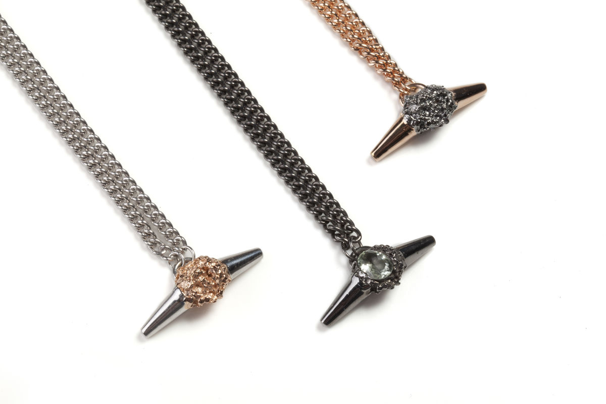 Charcoal Meteor Shower II Luxe Necklace - product images  of