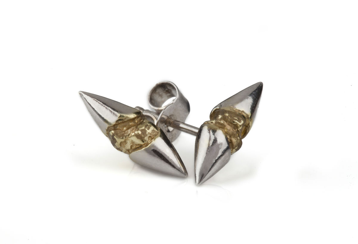 Silver & Gold Thorn Earrings - product image