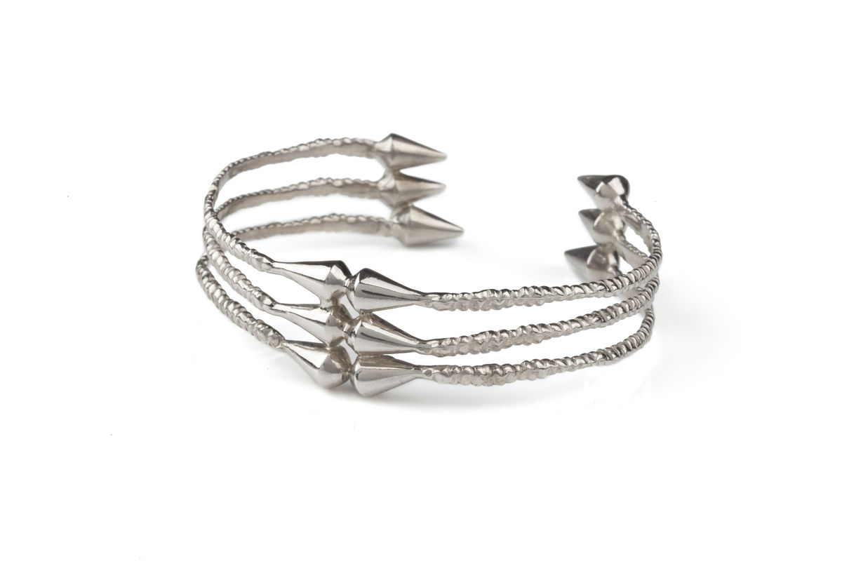 Silver Spike Cuff - product images  of