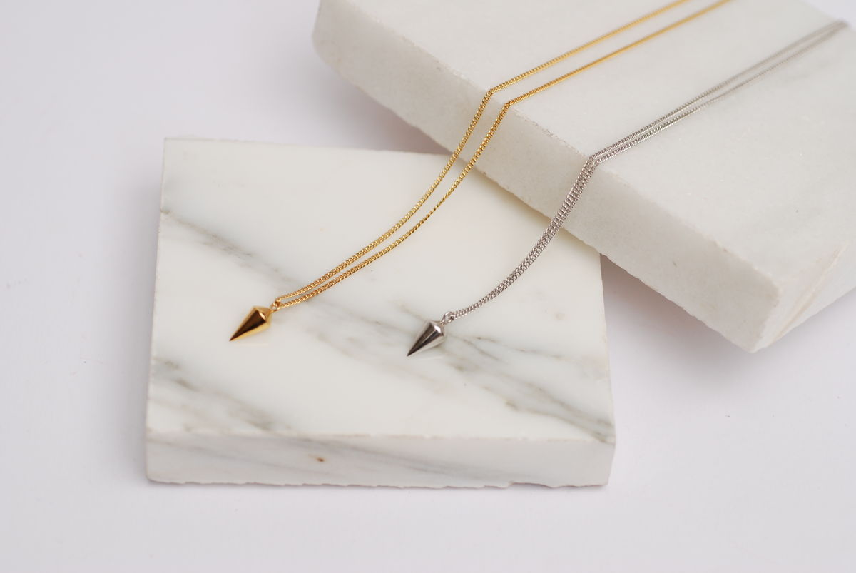 Gold Spike Necklace - product images  of
