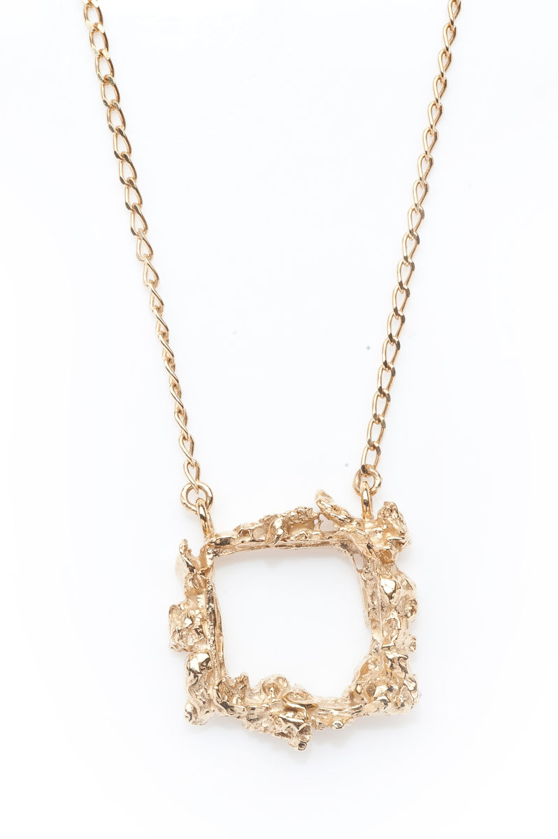 Gold frame necklace ros millar gold frame necklace aloadofball Choice Image