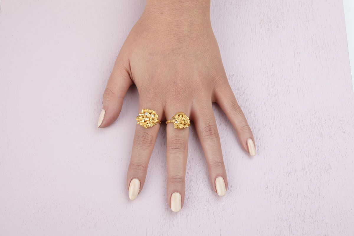 Small Golden Carve Ring - product images  of