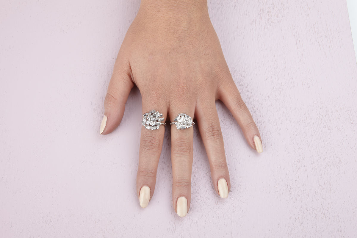 Small Icy Carve Ring - product images  of