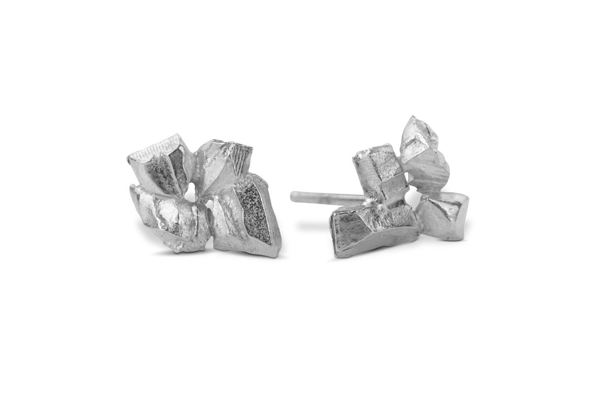 Coupled & Carved Icy Earrings - product images  of