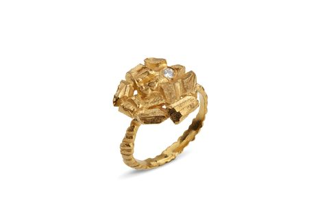 Small,Golden,Carve,Ring