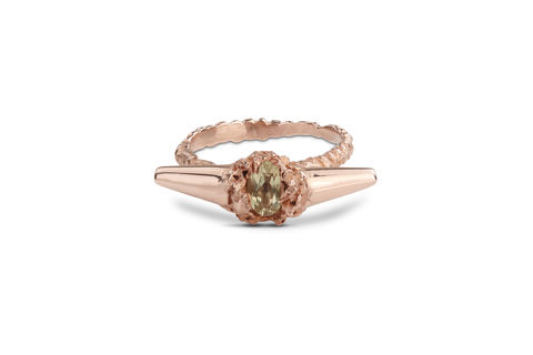 Rose,Citrine,Meteor,Shower,II,Luxe,Ring,rosmillar, rose gold, designer, jewellery, ring, meteor II, London, rose quartz