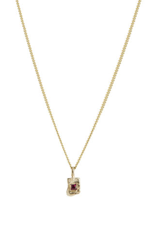 Ruby,Rock,Necklace,ruby necklace, rectangle pendant, fine jewellery