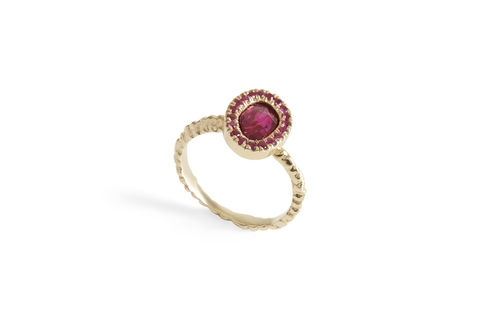 Layered,Luxe,Ruby,Ring, ruby ring, ruby gold stud ring, burmese rubies, made in london, handmade