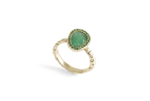Envy,Emerald,Ring,emerald, emerald ring,  tsavorite, emerald halo,  burmese rubies, made in london, handmade