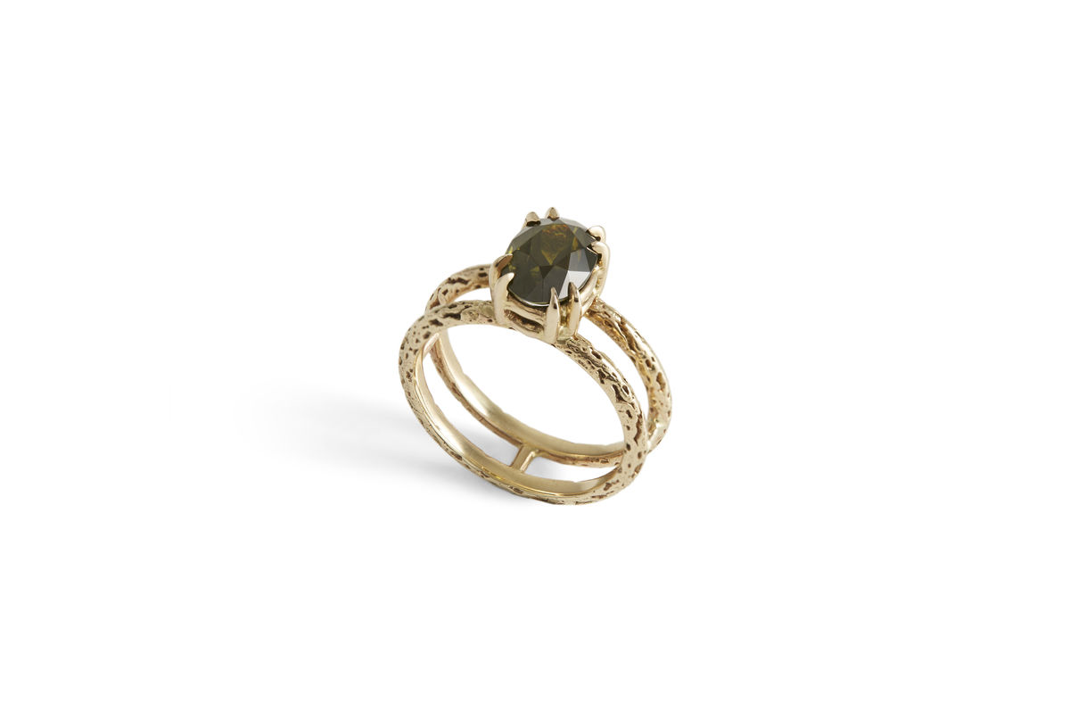 Tourmaline Tiger Stripe Ring - product images  of
