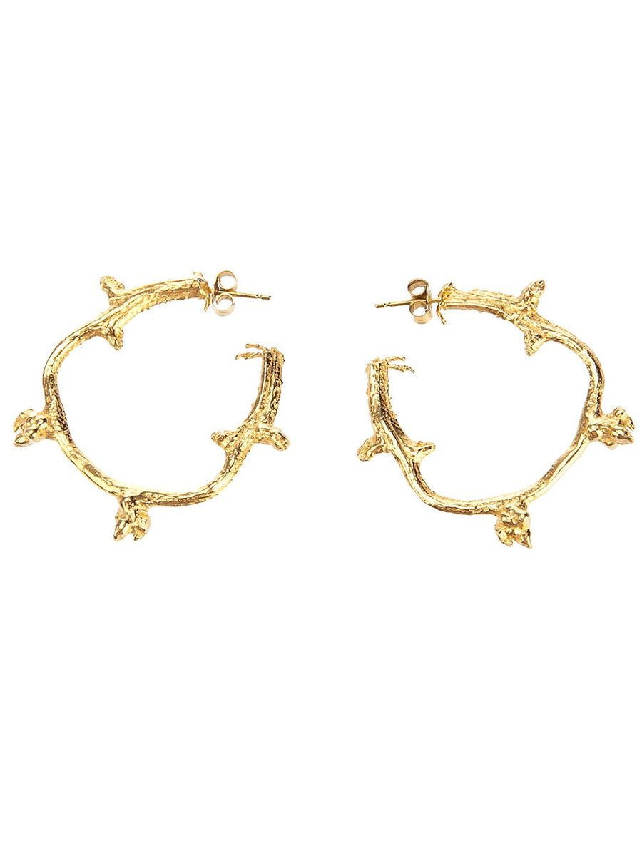 Yellow Branch Hoop Earrings - product images  of