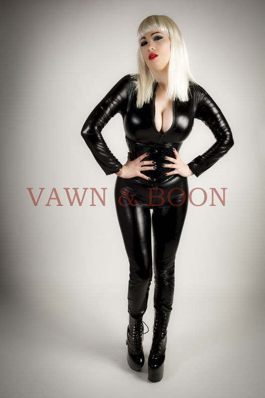 Black Stretchy PVC Catsuit - product images  of