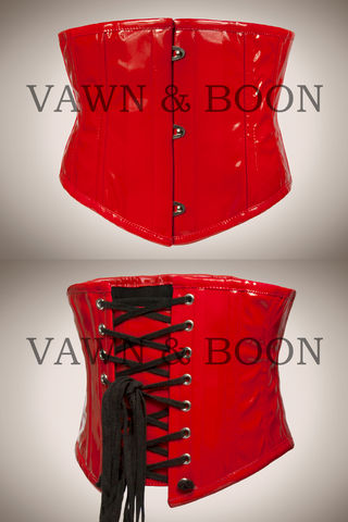 Red,Wasp,Steel,Boned,Premium,PVC,Waist,Cincher,red pvc waist cincher waspie corset fetish catsuit tight lacing