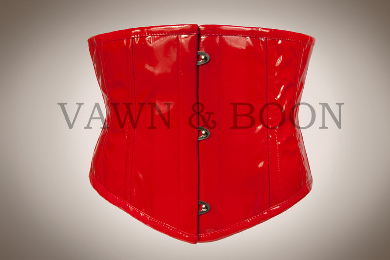 Red Wasp Steel Boned Premium PVC Waist Cincher - product images  of