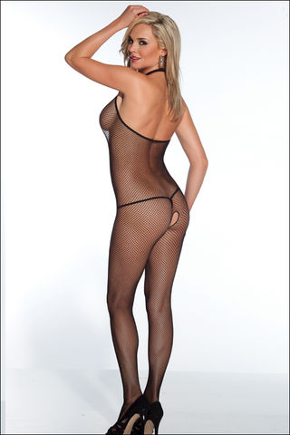 Coquette,Crotchless,Halter,Neck,Bodystocking
