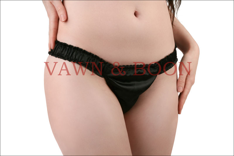 Unisex Satin Trap Door Panty Gaff - product images  of
