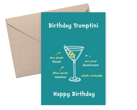 Happy Birthday Funny Card Alcohol Quarantine Dickens Ink