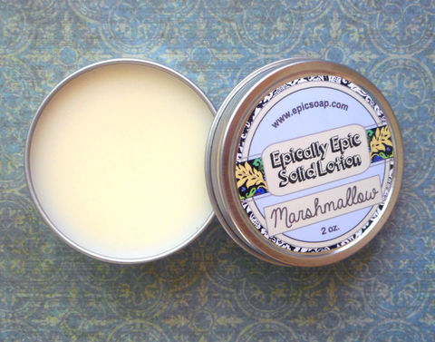 Marshmallow,Many,Purpose,Solid,Lotion,-,Vegan,Bath_And_Beauty,hand_cream,body_butter,lotion_bar,skin_care,vegan,lotion,solid_lotion,holiday_scented,christmas,winter,foot_lotion,white_chocolate,macadamia butter,jojoba,candelilla wax,coconut oil,olive squalane,fragrance,vitamin e,marshmallow, vegan