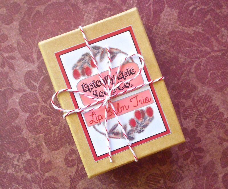 Gift Trio of Epic Lip Balms - Pick 3 Flavors - product images  of