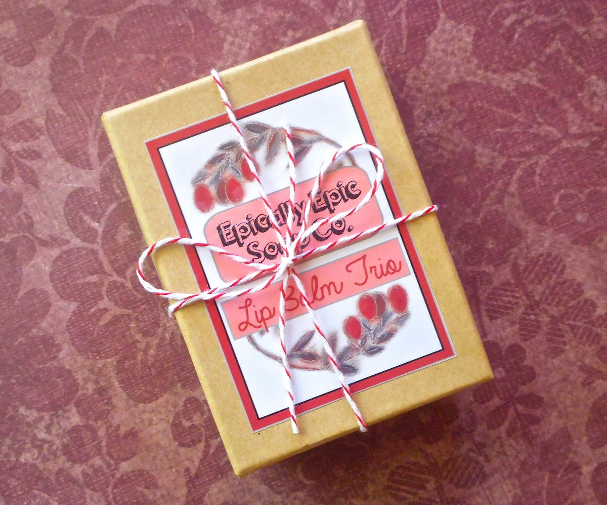 Gift Trio of Epic Lip Balms - Pick 3 Flavors - Epically Epic Soap