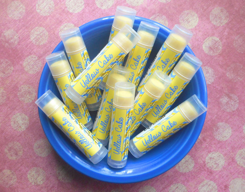 Yellow Cake Vegan Lip Balm  - product image