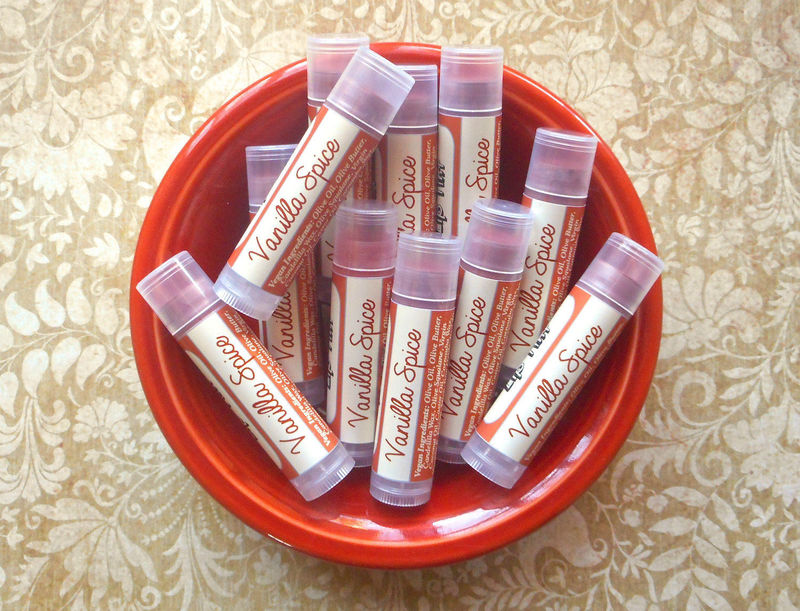 Vanilla Spice Vegan Lip Tint - Tinted Lip Balm in Creamy Rosewood - product images  of