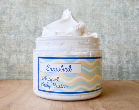 Snowbird,Whipped,Body,Butter,-,Limited,Edition,Spring,Scent,Bath_And_Beauty,hand_cream,body_butter,vegan,epically_epic,whipped_body_butter,whipped_shea_butter,body_cream,vegan_body_butter,spring_collection,tahitian_vanilla,sea_salt,ocean_scent,aquatic_fragrance,macadamia butter,olive squalane,fragrance,vitamin e,s